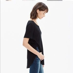 Madewell Anthem Side-Slit Shirt, Black